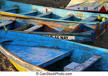 Fishermans Boats on the Beach