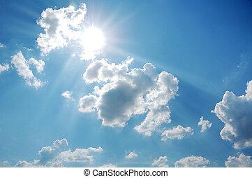 sky with sun