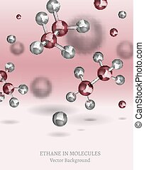 Ethane Molecules Background - Scientific backdrop with...