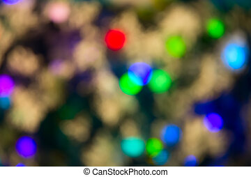 defocused ligths - Background made of defocused ligths of...