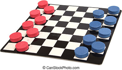 CHECKERS - Game photo on a white background isolated