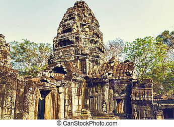 archaeology Angkor Wat Cambodia. - archaeology Ruins of...
