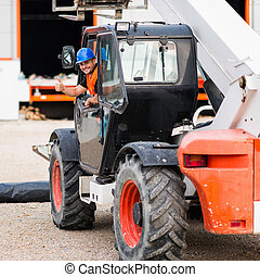 Manual Worker on Skid Steer Loader