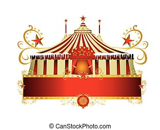 Christmas circus sign - A circus sign isolated on white...