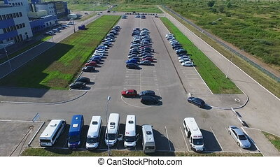 Video from quadcopter which flew over the parking space for...