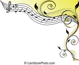 Music theme vector illustration