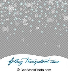 falling christmas decoration snow isolated on transparent...