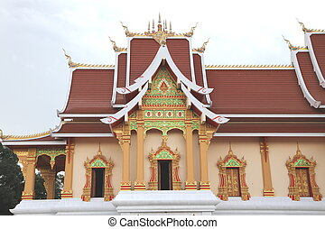 Wat Phra That Luang in Vientiane are building restored