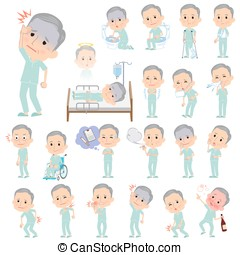 patient grandfather About the sickness - Set of various...