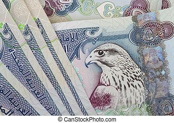 UAE currency - 500 dirhams closeup note