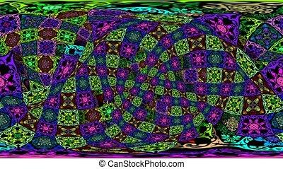 VJ mushroom 360VR dome flying tapestry - VJ mushroom 360VR...