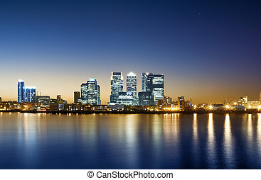 Canary Wharf, London - Canary Wharf view from O2 ArenaThis...