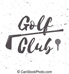Golf club concept with golf ball silhouette. Vector golfing...