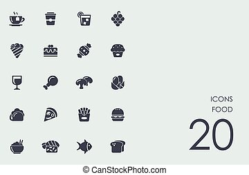 Set of food icons - food vector set of modern simple icons