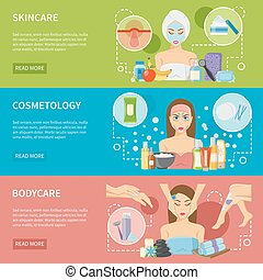 Cosmetology And Spa Procedures Horizontal Banners -...