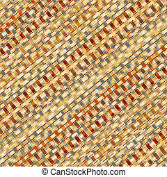 Basketry weave - Editable vector illustration of a woven...