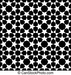seamless moroccan mosaic - white and black mosaic moroccan...