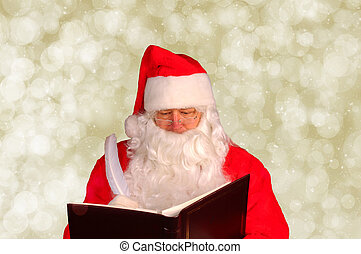 Santa Claus with Naughty and Nice Book