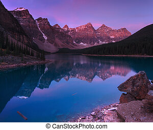 Moraine Lake Early in the Morning