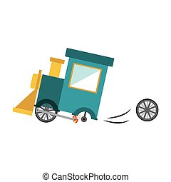 Isolated toy train damaged design - Toy train damaged icon....