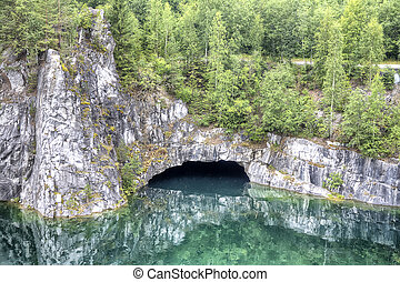 Karelia. Marble canyon - Marble Canyon. Place a marble...