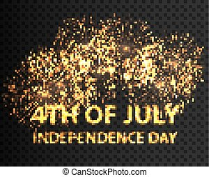 Fourth of July independence day. Vector eps10