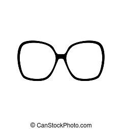 Set of various glasses. Stylish sunglasses for women, men...