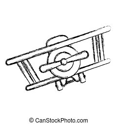 Isolated toy airplane design