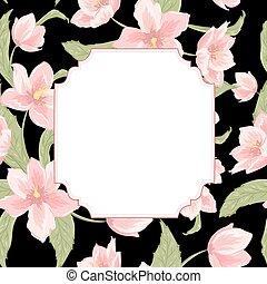 Hellbore christmas rose flower invitation card - Invitation...