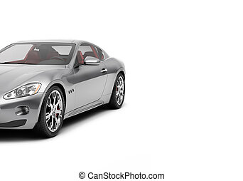 CG 3d render of generic luxury sport car isolated on a white...