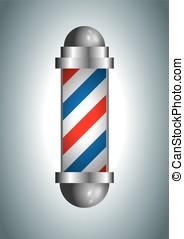 barber shop pole - vintage barber shop vector. barberpole...
