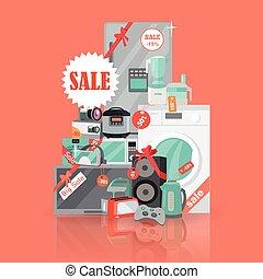 Big Super Web Sale Banner. Household Appliances - Big super...