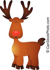 Santas Christmas Reindeer - Scalable vectorial image...