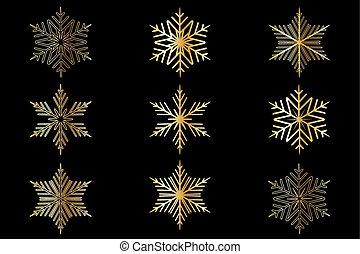 Snowflakes set,