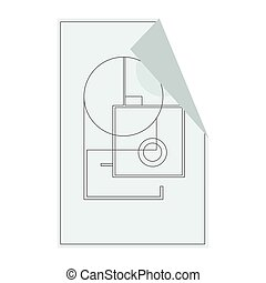 House floor plan icon for ui or app. Vector