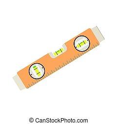 Construction level ruler isolated on white background -...