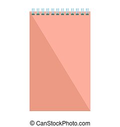 Blank flat spiral notepad. Notebook isolated on white...