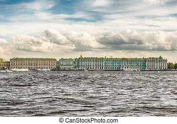 View of the Winter Palace, Hermitage Museum, St. Petersburg,...