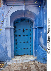 Blue doors in chefchaouene