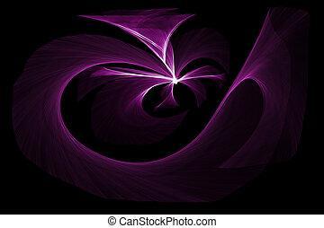 purple lights on black