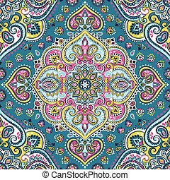 Beautiful Indian floral paisley seamless ornament print....
