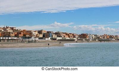 Coast, Ostia, Rome, Italy. UltraHD (4K)