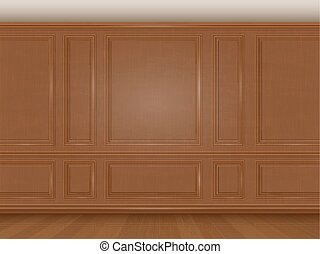 wall decorated panel mouldings in classic style - The wall...