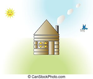 funny house cartoon vector illustration