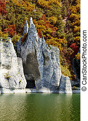 The Wonderful Rocks of Tsonevo dam in Bulgaria, fall time