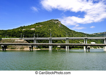 A bridge over Tsonevo Dam, near The Wonderful Rocks, Bulgaria