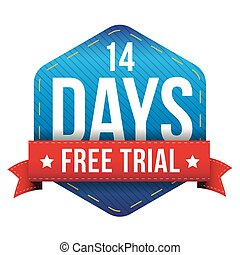 Fourteen days free trial vector