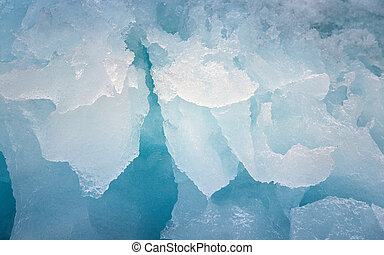 Ice texture closeup - Closeup photo of blue ice formation...