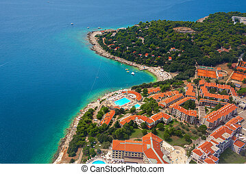 Croatia aerial view - Aerial view of Croatia coastline from...