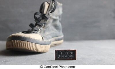 It's Time for a New Job tag and Sneakers - It's Time for a...
